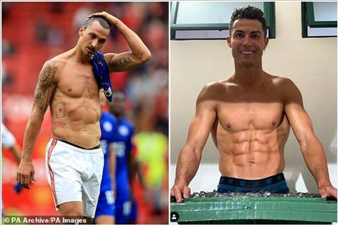 Zlatan Ibrahimovic sở hữu cơ thể hoàn hảo như Ronaldo hình ảnh