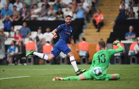 Liverpool vs Chelsea Giroud ghi ban