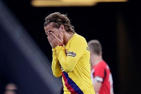 Griezmann that vong khi Barca thua tran