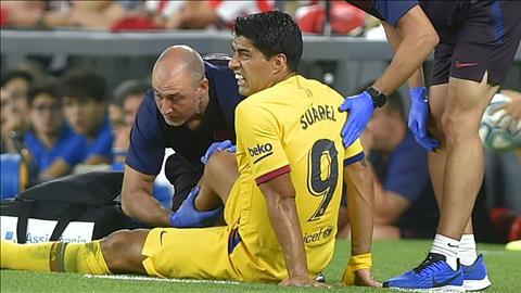 Luis Suarez dính chấn thương sau trận thua Bilbao hình ảnh