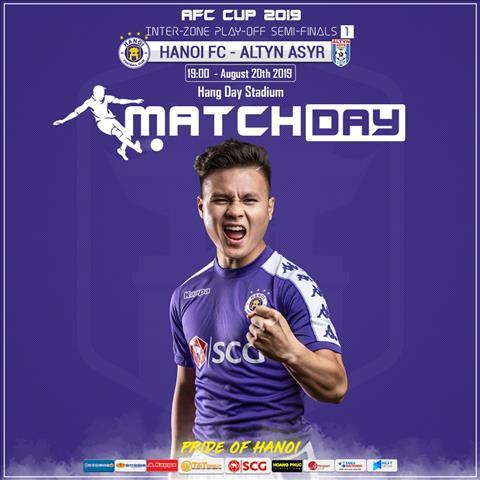 Trực tiếp bóng đá Hà Nội vs Altyn Asyr link xem AFC Cup 2019 hình ảnh
