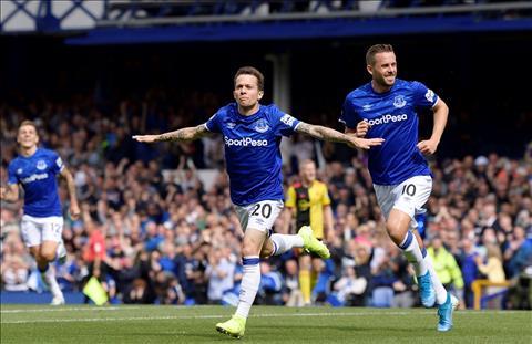 Bernard ghi ban cho Everton