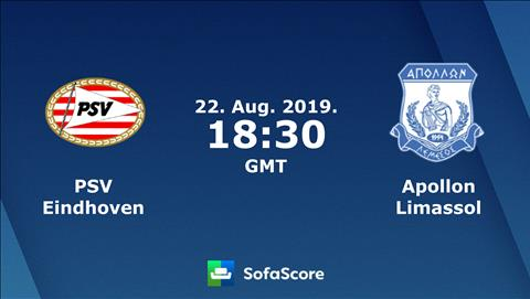 PSV Eindhoven vs Apollon 1h30 ngày 238 Europa League 201920 hình ảnh