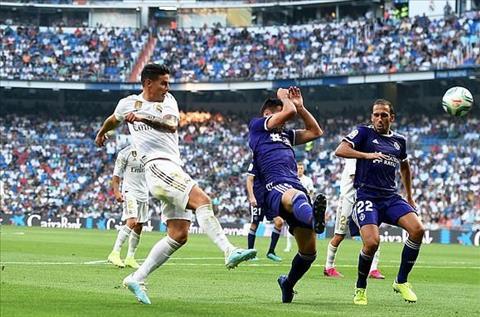 Real vs Valladolid James Rodriguez ra san