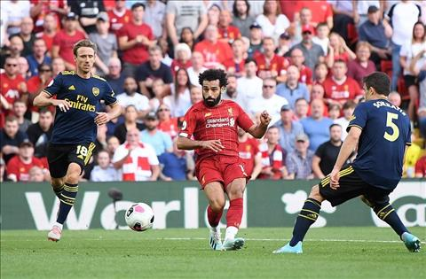 Liverpool vs Arsenal Salah lap cu dup
