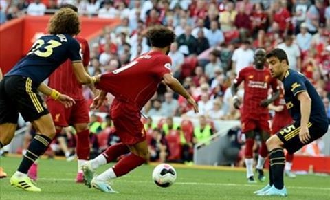 HLV Emery nói về tình huống David Luiz kéo ngã Salah hình ảnh