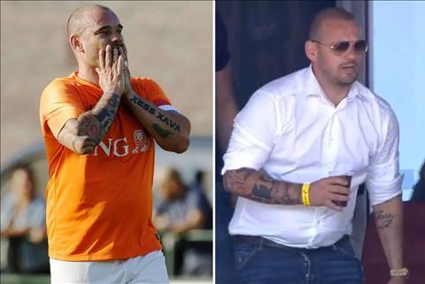 VIDEO Chuyện gì xảy ra với cân nặng của Wesley Sneijder hình ảnh