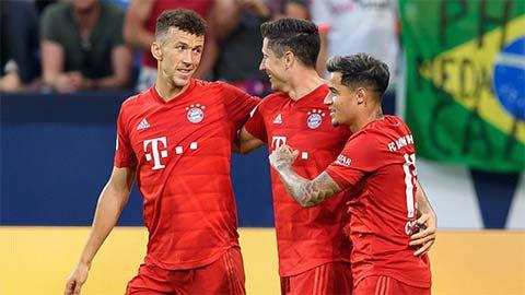 Philippe Coutinho kết hợp tốt cùng tiền đạo Lewandowski  hình ảnh