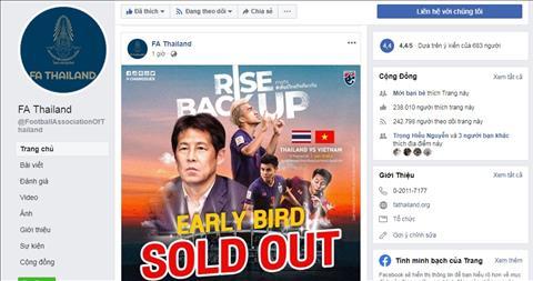 FAT thong bao chay ve xem tran Thai Lan - Viet Nam o vong loai World Cup 2022