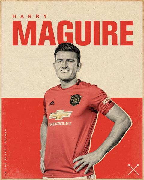 Chính thức Trung vệ Harry Maguire gia nhập MU với giá 80 triệu bảng hình ảnh