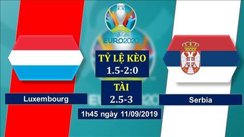 Luxembourg vs Serbia 1h45 ngày 119 Vòng loại Euro 2020 hình ảnh