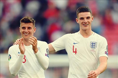Mason Mount - Declan Rice Tình bạn tuyệt vời thắp sáng bóng đá Anh hình ảnh