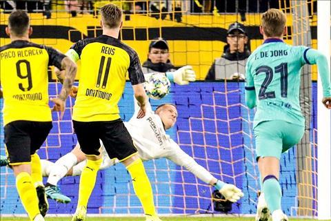 Barca vs Dortmund Thoát thua nhờ pha cứu pen phạm luật của thủ môn hình ảnh