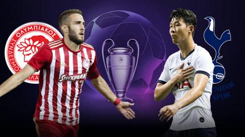 Olympiakos vs Tottenham 23h55 ngày 189 Champions League 201920 hình ảnh
