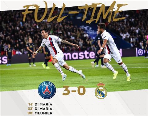 Kết quả cúp C1 hôm nay 199 Real Madrid thảm bại trước PSG hình ảnh
