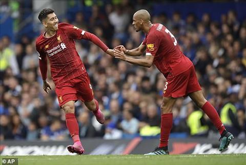 Liverpool tam thoi dan truoc 2-0 sau 45 phut dau tien