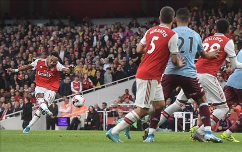 Arsenal vs Aston Villa Aubameyang ghi ban