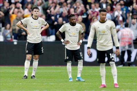MU thua West Ham 0-2