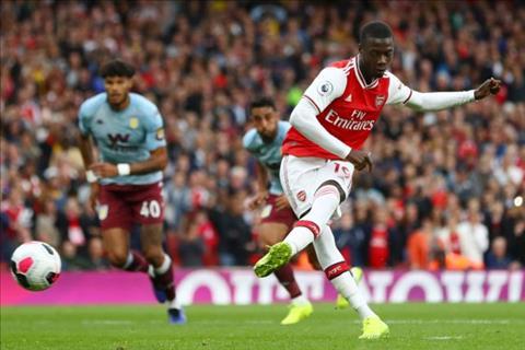 Nicolas Pepe thuc hien qua da 11m thanh cong truoc Aston Villa