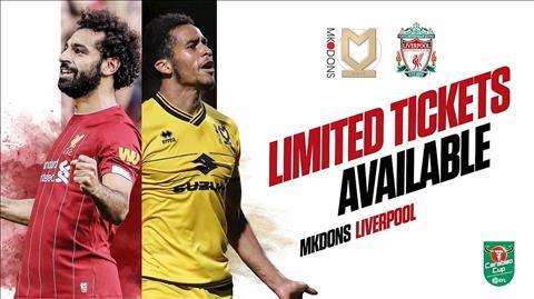 Truc tiep bong da dem nay: MK Dons vs Liverpool link xem League Cup o dau ?