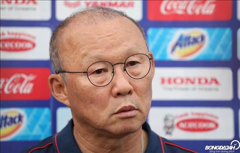HLV Park Hang Seo co buoi tra loi phong van ngan sau le boc tham chia bang VCK U23 chau A 2020.