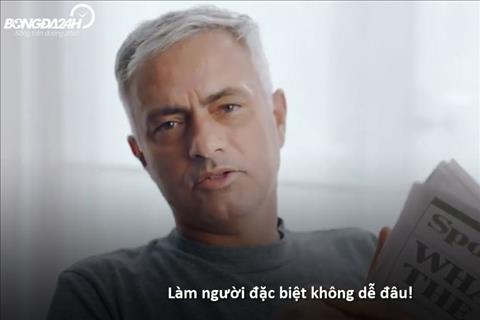 VIDEO Mourinho liên tục nhắc đến từ Đặc biệt trong video quảng cáo hình ảnh
