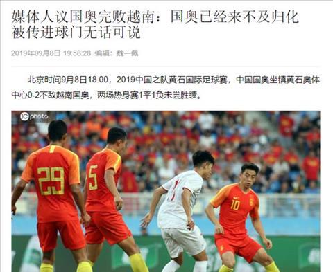 Đội nhà thua U22 Việt Nam, báo chí Trung Quốc ngán ngẩm hình ảnh 2