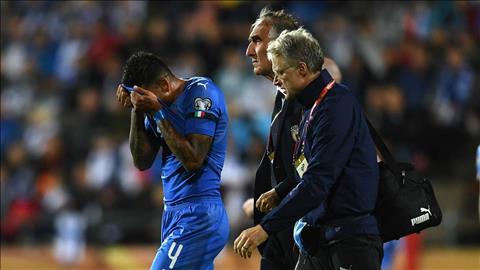 Hậu vệ Emerson chấn thương ở đội tuyển Italia hình ảnh