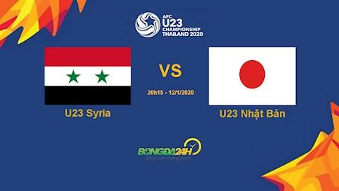 Trực tiếp bóng đá U23 Syria vs U23 Nhật Bản ngày 1212020 hình ảnh