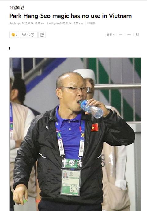Báo Hàn Quốc Phép màu của HLV Park Hang Seo đã hết hình ảnh
