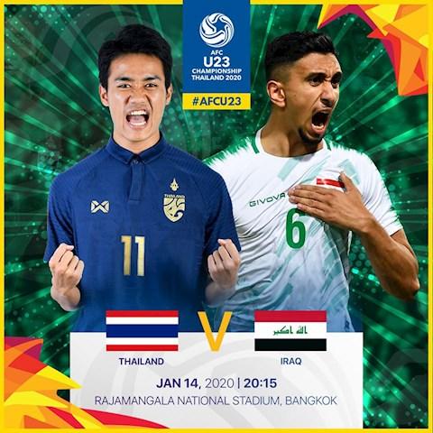 Truc tiep U23 Thai Lan vs U23 Iraq bang A U23 Chau A 2020
