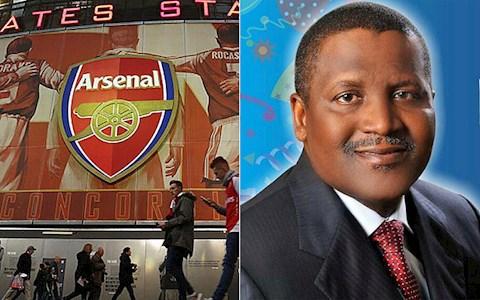 Ty phu Nigeria giau nhat Chau Phi tiep tuc hoi mua Arsenal