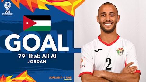 U23 Jordan co ban thang o phut 79 an dinh ket qua tran dau 1-1