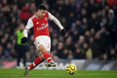 Tân binh Arsenal kinh ngạc với tài năng của Gabriel Martinelli hình ảnh
