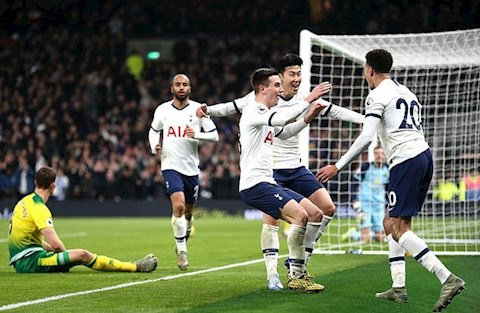 Tottenham thang Norwich hang cong an tuong