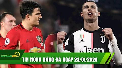 TIN NONG bong da hom nay 23/1: MU thua be bang ngay tai Old Trafford, Ronaldo tiep tuc phong do ghi ban huy diet