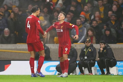 Firmino mang ve chien thang thu 22/23 tran cho Liverpool tai Premier League 2019/20