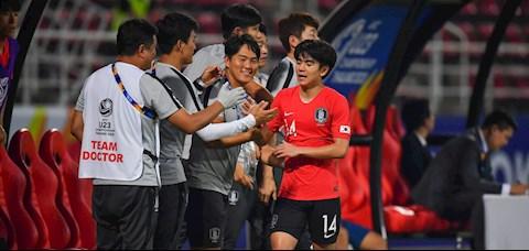 Kim Dae-won khang dinh U23 Han Quoc chi an mung sau khi vo dich U23 chau A 2020. Anh: AFC.