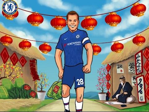 Chelsea chuc tet Canh Ty 2020 toi nguoi ham mo Viet Nam
