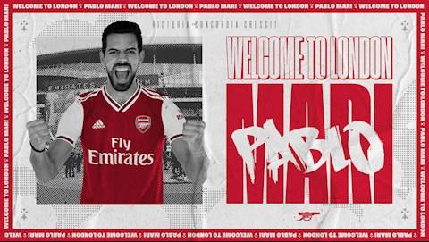 Pablo Mari chinh thuc cap ben Arsenal