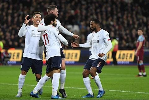 West Ham 0-2 Liverpool Salah an mung cung dong doi