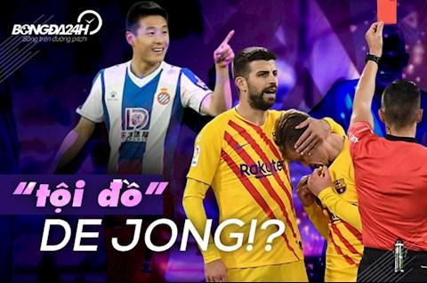 Espanyol vs Barca De Jong ava