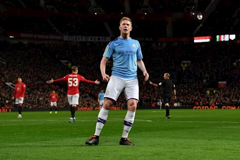 Man Utd 1-3 Man City De Bruyne an mung