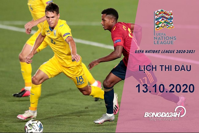 Lịch thi đấu UEFA Nations League hôm nay 13102020 - BD 24h hình ảnh