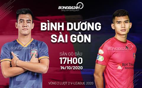 Truc tiep bong da Binh Duong vs Sai Gon vong 2 nhom A V-League 2020 luc 17h00 ngay hom nay 14/10