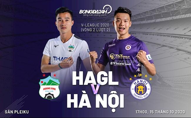 Truc tiep bong da HAGL vs Ha Noi vong 2 nhom A V-League 2020 luc 17h00 ngay hom nay 15/10