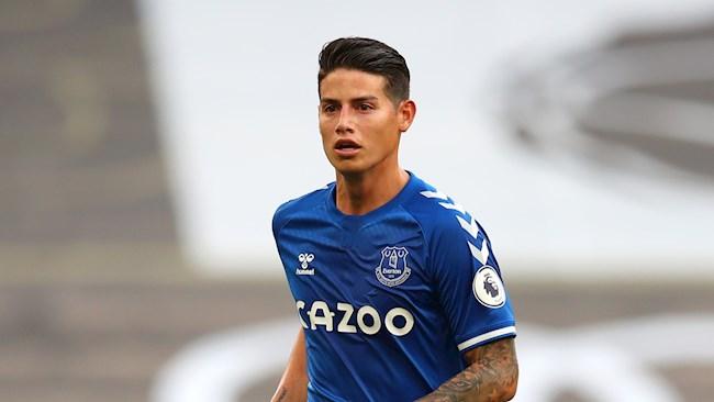 James Rodriguez dang choi rat tot o Everton