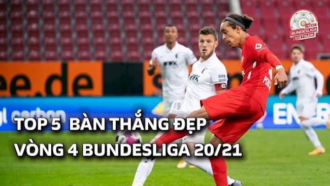 VIDEO: 5 bàn thắng đẹp nhất vòng 4 Bundesliga 2020/21