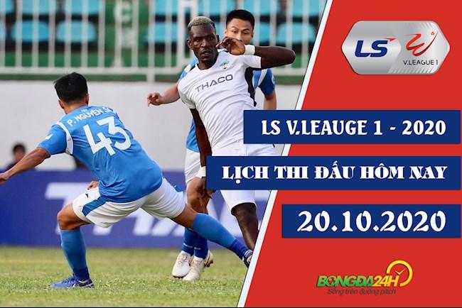 Lịch thi đấu bóng đá Việt Nam hôm nay 2010 LTD VLeague 2020 hình ảnh