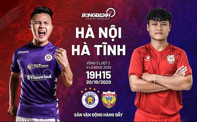 Truc tiep bong da Ha Noi vs Ha Tinh luot 3 nhom A V-League 2020 luc 19h15 ngay hom nay 20/10